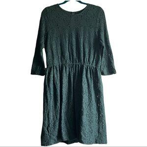 Maison Jules Green Lace Dress